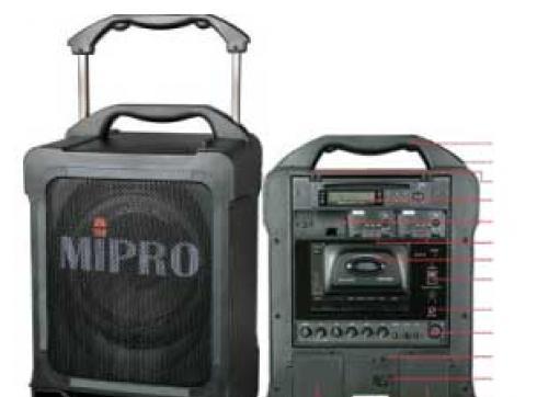 Mipro MA 707 CD Tragb. System + Kassetten-/CD-Teil