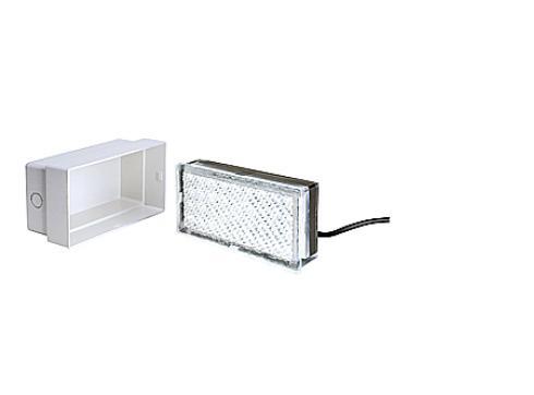 SLV LED Pflaster Fliese 20x10cm weiß bis 500kg belastbar 227331