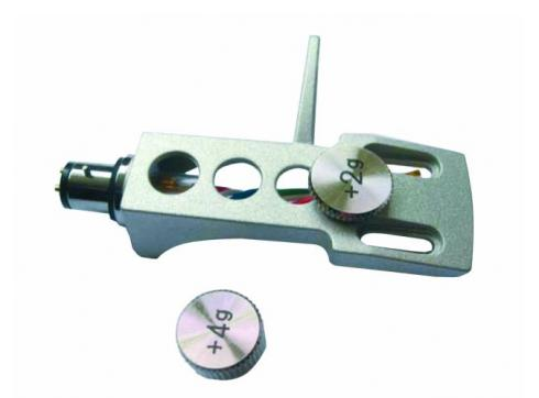 Headshell Systemträger m.Gewichten silber