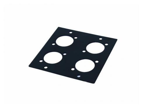 Modul 2 HE für 4x D-Type Stecker 88x88mm