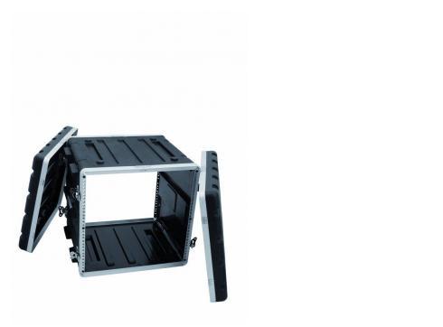 Kunststoff-Rack KR-19 10HE DD schwarz