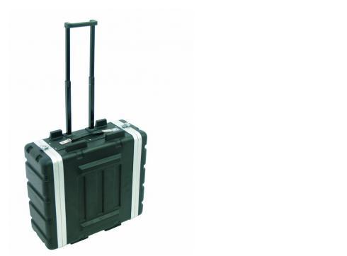 Kunststoff-Rack 19 4HE DD/Trolley sw