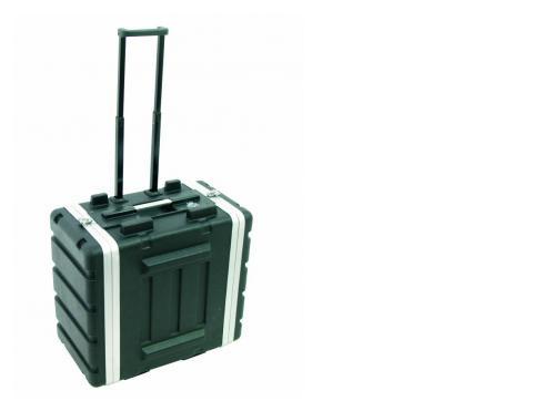 Kunststoff-Rack 19 6HE DD/Trolley sw