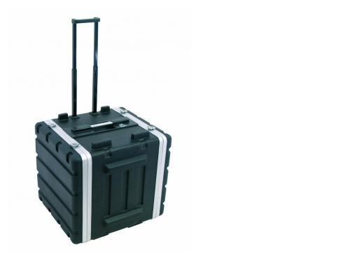 Kunststoff-Rack 19 10HE DD/Trolley sw