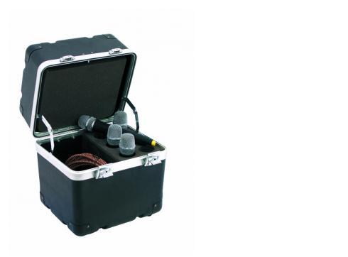 Mikrofon-Case Kunststoff 6 Mikrofone sw