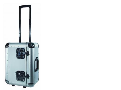 Platten-Case ALU 75/25 silber Trolley