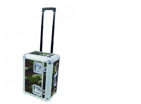 Platten-Case ALU 75/25 camo Trolley