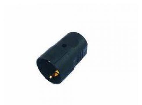 Schutzkontaktstecker Kunststoff schwarz