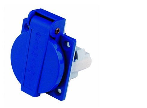 Klappdeckeleinbausteckdose blau 230V 16A
