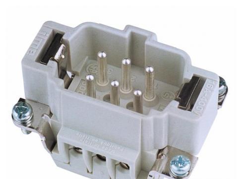 Steckereinsatz 6-pol 16A Schraubklemmen