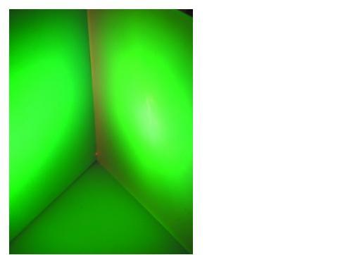 Dichro f. Fluter hellgrün frost 165x132mm