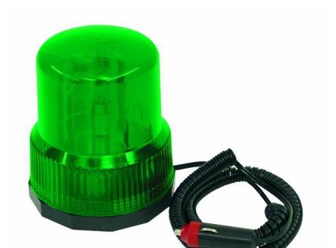 Polizeilicht DER-1221 grün 12V/21W