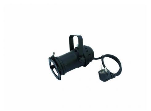 PAR-16 Spot schwarz 230V für GU-10 Lampe