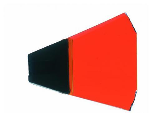 Dichro mit Halter dunkel orange Typ 1
