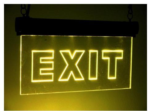 EUROLITE LED Sign Zoll EXIT Zoll RGB