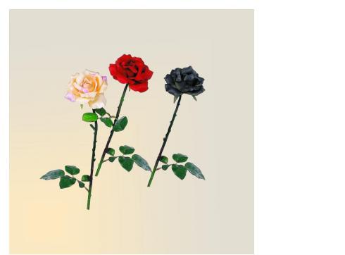 Rose -offen- langstielig schwarz/dunkelbl