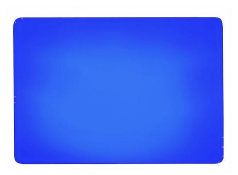 Dichro-Filter blau 258x185x3mm frosted