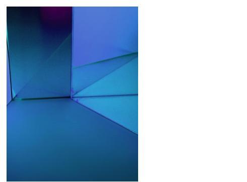 Dichro-Filter blau 205 x 200 x 3mm