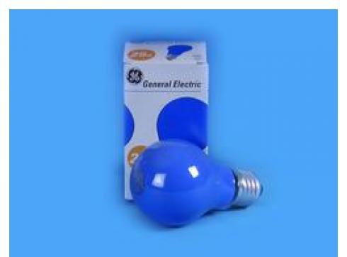 GE A19 230V/25W E-27 blau matt