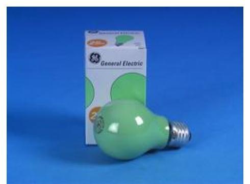 GE A19 230V/25W E-27 grün matt
