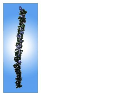 Weihnachtsgirlande silberblau 180cm