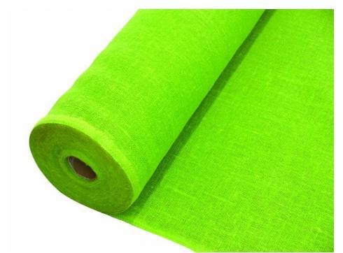 Deko-Stoff Rupfen apfelgrün 1.30/1m