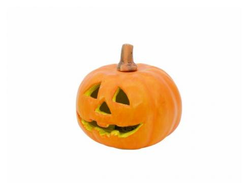 Kürbis Zoll Halloween Zoll m.blinkender LED 18x18cm