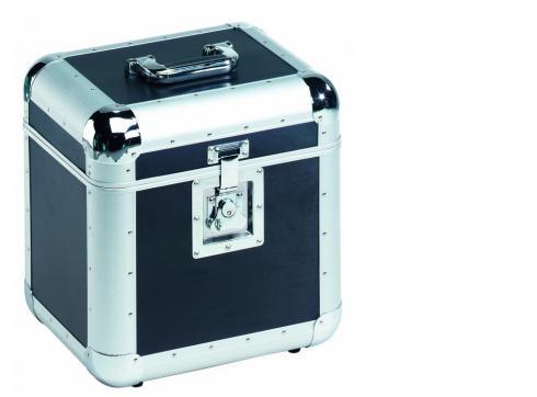 Platten-Case ALU 75/25 abgerundet schwarz