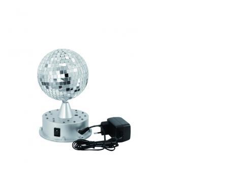 LED Spiegelkugel 13cm mit Leucht-Standfuß