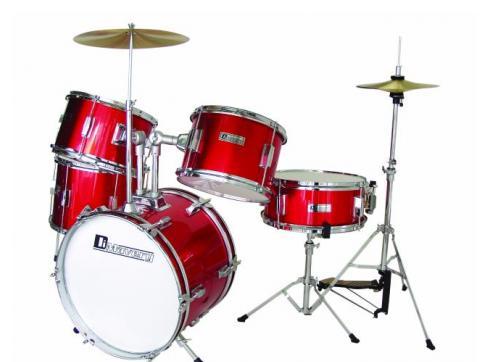 DIMAVERY JDS-305 Kinder Schlagzeug rot