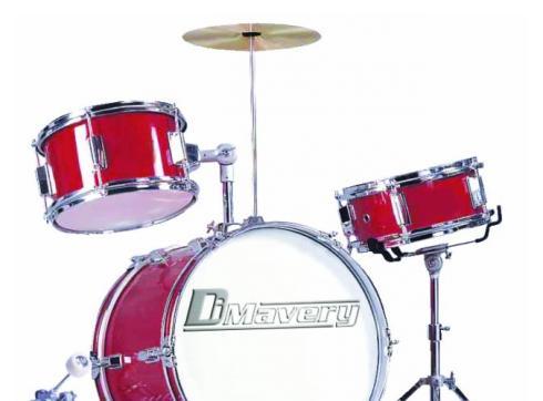 DIMAVERY JDS-203 Kinder Schlagzeug rot