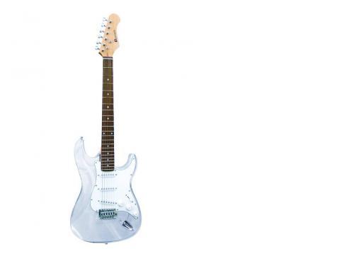 DIMAVERY ST-503 E-Gitarre acryl