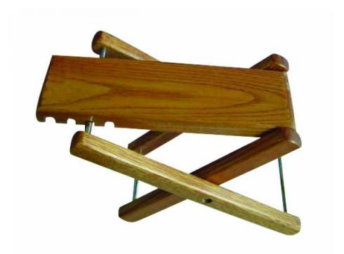 DIMAVERY Gitarrenfußbank Holz