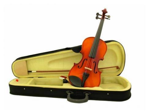 DIMAVERY Violine 4/4 mit Bogen im Case