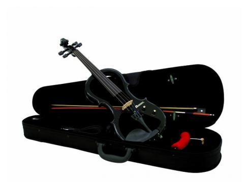 DIMAVERY E-Violine 4/4 m.Bogen Case Schwa