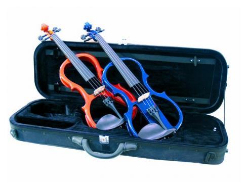 DIMAVERY E-Violine 4/4 m.Bogen Case Blau