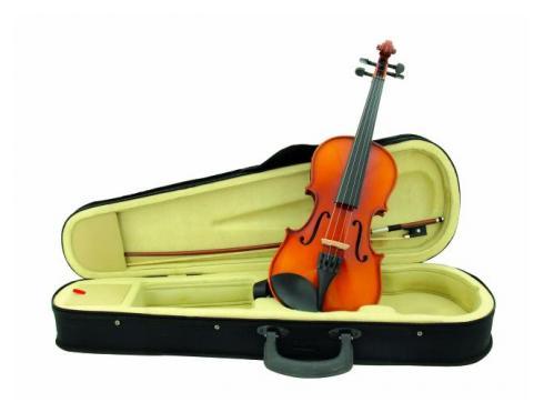 DIMAVERY Violine 1/2 mit Bogen im Case