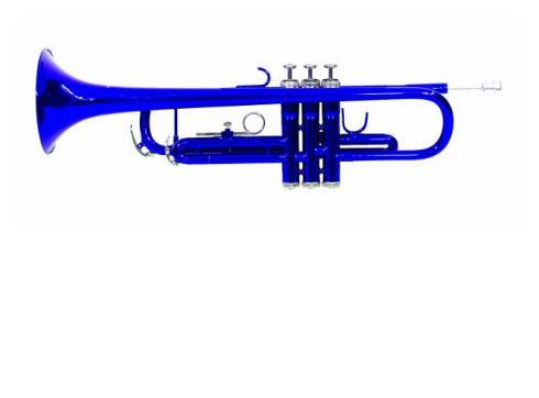 DIMAVERY TP-10 Bb Trompete blau