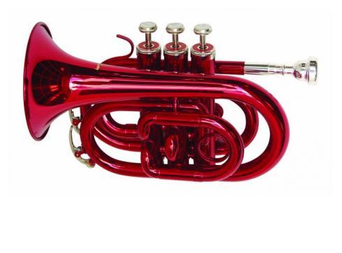 DIMAVERY TP-300 Bb Pocket Trompete rot