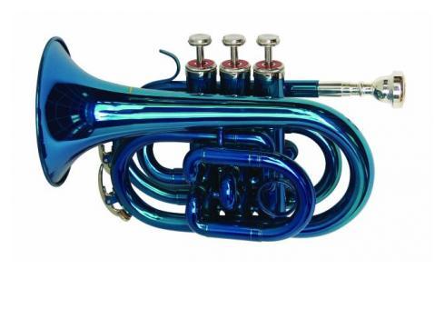 DIMAVERY TP-300 Bb Pocket Trompete blau