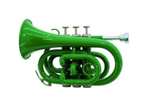 DIMAVERY TP-300 Bb Pocket Trompete grün