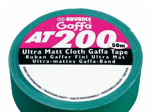 Gaffa Tape Advance AT 200 schwarz 50m / 50mm breit