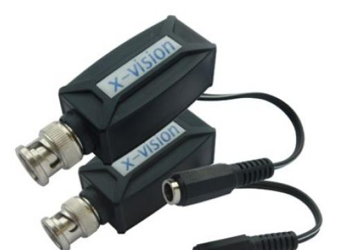X-vision HTS-121 Video-/Daten-/Stromspeisung-Balun