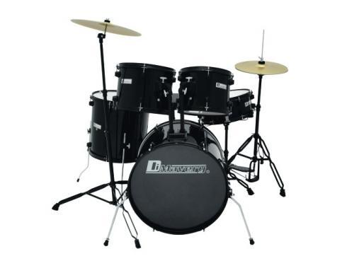 DIMAVERY DS-200 Schlagzeug-Set schwarz