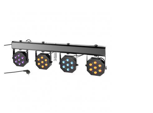 Cameo Multi PAR - Kompakte 28 x 3 W Tri Colour LED Lichtanlage inkl. Transportcase CLMPAR2