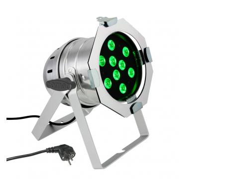 Cameo PAR 56 CAN - 9 x 3 W TRI Colour LED RGB Scheinwerfer in poliertem Gehäuse