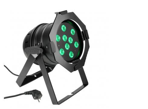 Cameo PAR 56 CAN - 9 x 3 W TRI Colour LED RGB Scheinwerfer in schwarzem Gehäuse