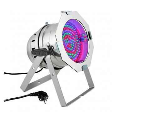 Cameo PAR 64 CAN - 177 x 10 mm LED RGBA PAR Scheinwerfer in poliertem Gehäuse