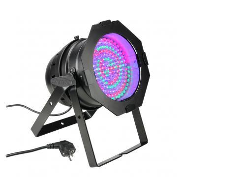 Cameo PAR 64 CAN - 177 x 10 mm LED RGBA PAR Scheinwerfer in schwarzem Gehäuse
