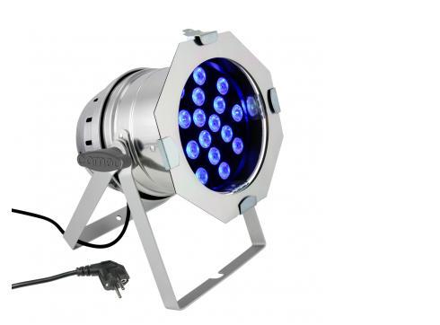 Cameo PAR 64 CAN - 18 x 3 W TRI Colour LED RGB PAR Scheinwerfer in poliertem Gehäuse